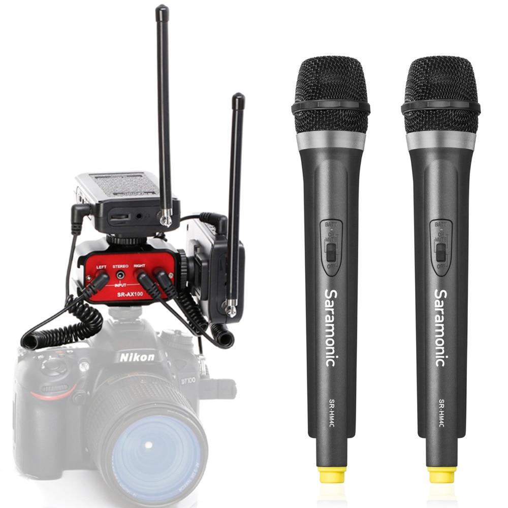 buy saramonic sr wm4ca dslr bundle wireless handheld microphone system two. Black Bedroom Furniture Sets. Home Design Ideas