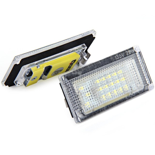 Auto License Plate Light 12V SMD 3528 White Light 18 LEDs License Plate Lamp for BMW MINI COOPER S R50 R52 R53 2001 – 2006 2pcs