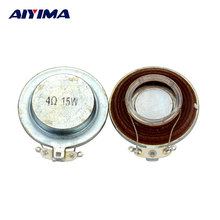 AIYIMA 2 unids 44mm Plano de Vibración Altavoz de la Resonancia Del Altavoz 15 W 4 ohmios