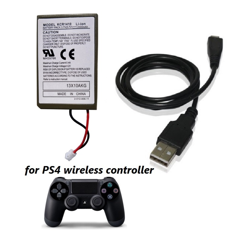 2pcslot 2000mah Pack Usb Charger Cable For Ps4 Playstatoin4