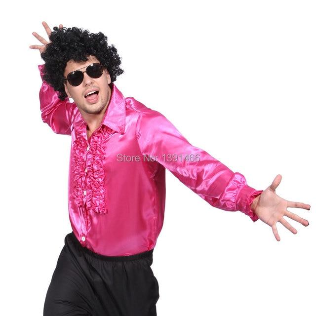 Disfraz de Disco 70s 80s Camisa Pliegue para Hombre adulto Fiesta ...