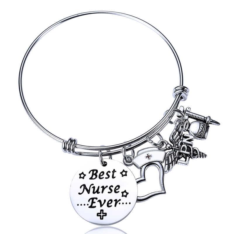 Лучший браслет медсестры подарок на выпускной ювелирный кадуцеус подвеска