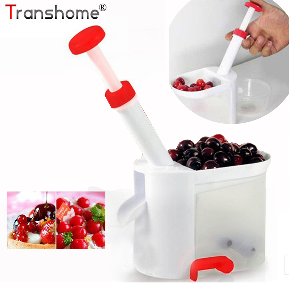 1Pcs Easy Cherry Pitter Cherry Seed Remover Stone Picker Cherry Corer With Container Fruit Vegetable Tools Kitchen Tools Gadget