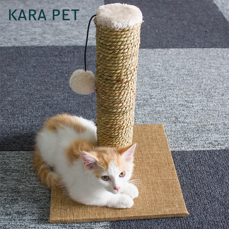 Natural Seaweed Cat Scratcher Tree Climbing Toys Scratching Post Claws Pet Furniture for Cats Кошка