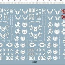 1/6 ammo eagle US air force logos & marks Model Kit Water Decal
