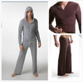 Men's yoga twinset tops+pants comfortable ice silk fabric sleep Sleepwear causal Home family pyjamas Night  bath clothes sweater