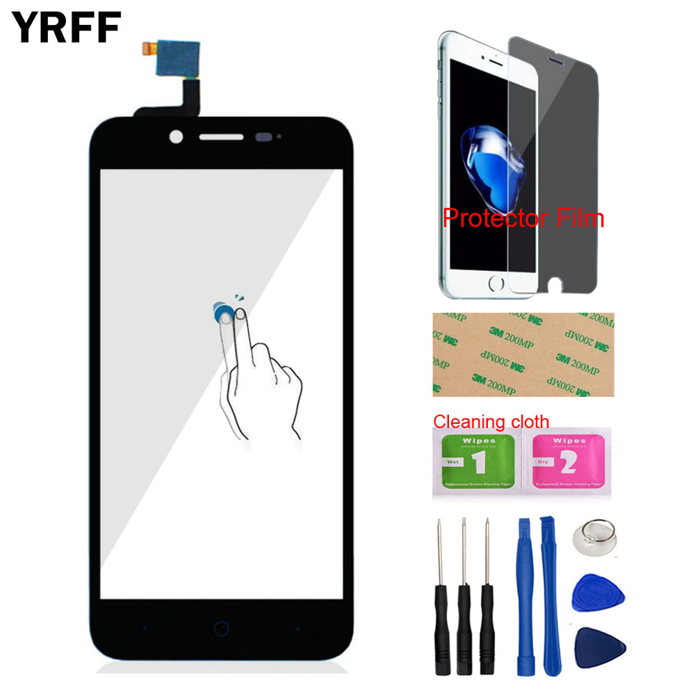YRFF 5.0 Front Touch Screen Digitizer Panel Glass Lens Sensor Capacitive For ZTE Blade L4 A460 Tools Protector Film Adhesive