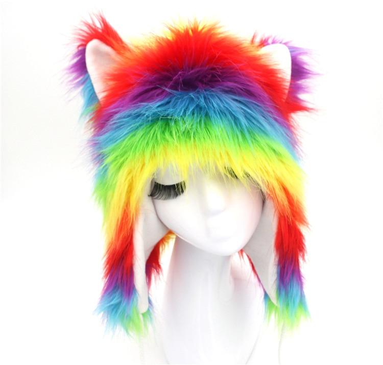 .2016 Colours Factory Sell Winter Women Man Real Fox Fur Hat Warm Russian Cap Wholesale / Retail Real Silver Fox Fur Woman hat