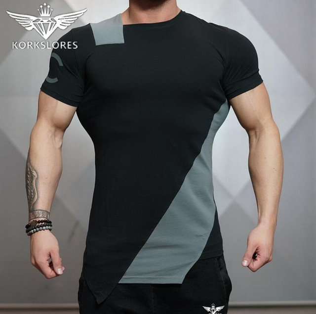 2018 Gyms Bodyengineers Summer The Stadium Shark Stringer T-shirt Man Bodybuilding And Fitness Crime Short Sleeve T-shirt 3