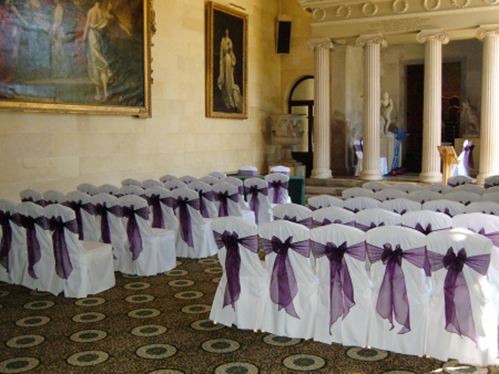 Chair Covers And Sashes Gaming Chairs With Speakers Free Shipping 50 Pcs Dark Purple Wedding Organza Cover Sash Party Banquet Decor Bow Hot In Diy Decorations From Home Garden On