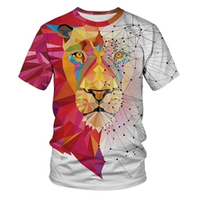 Galaxy Red White Lion 3d T Shirt Men Women Plus Size Summer Funny Animal  Tshirts Funny Tee 315e72a70364