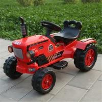 Большие мальчики электрический игрушечный автомобиль трактор электрические автомобили для детей, чтобы ездить четыре колеса поездка на тр...