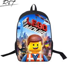 3D Cartoon Star Wars School Bags for teenagers Lego Children Book Bag  Casual Mochilas for Boys 16inch Backpacks