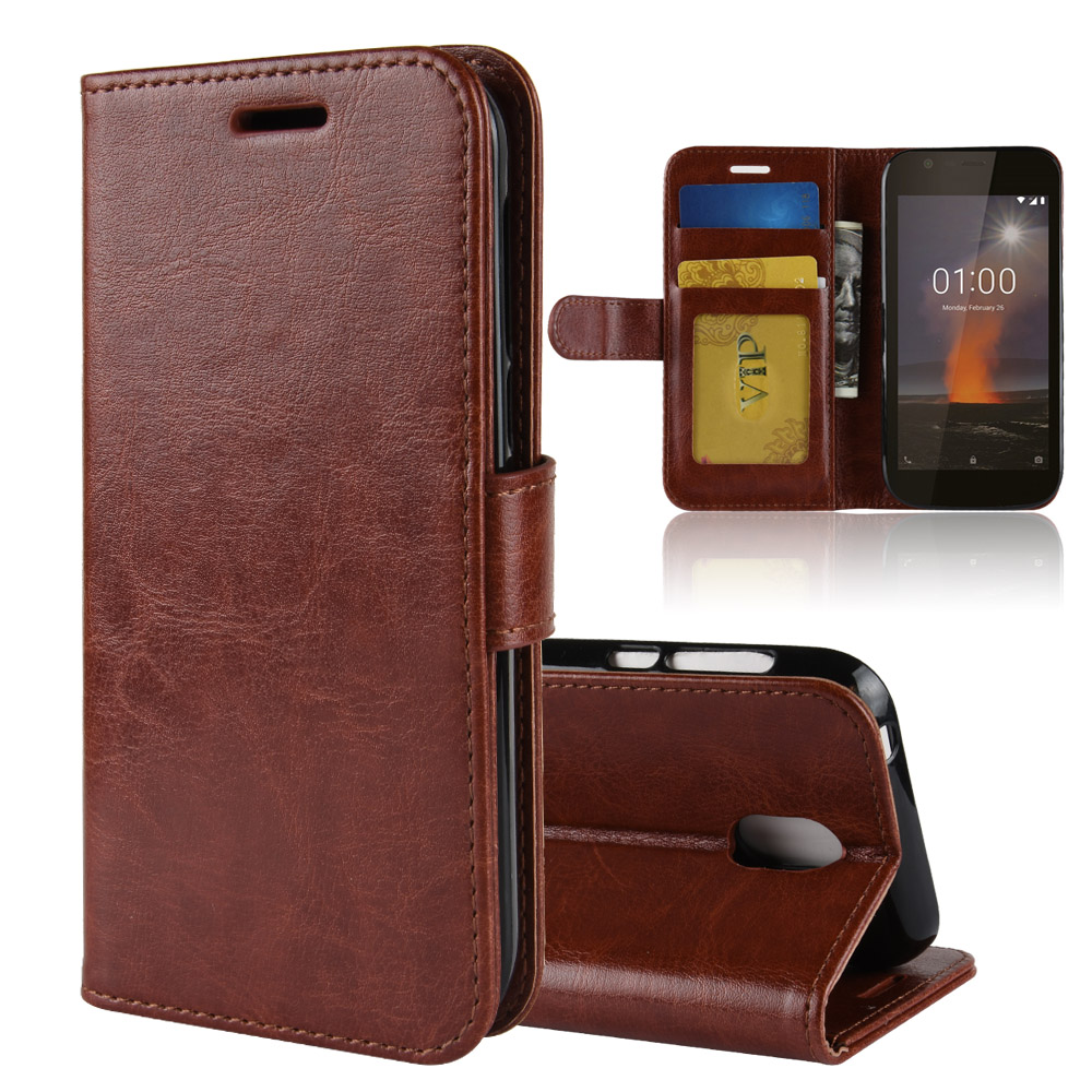 10pcs lot crazy horse Wallet Leather cover Case For Nokia 7 1 6 1 6 2018