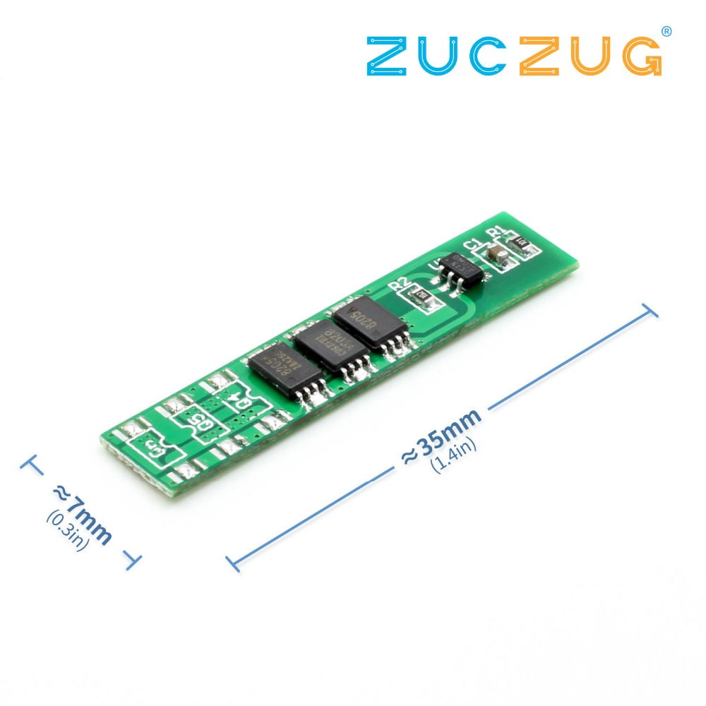 <font><b>1S</b></font> 18650 4.2V 3.7V lithium <font><b>battery</b></font> <font><b>protection</b></font> <font><b>board</b></font> 6A working current 7.5A current limiting <font><b>protection</b></font> image