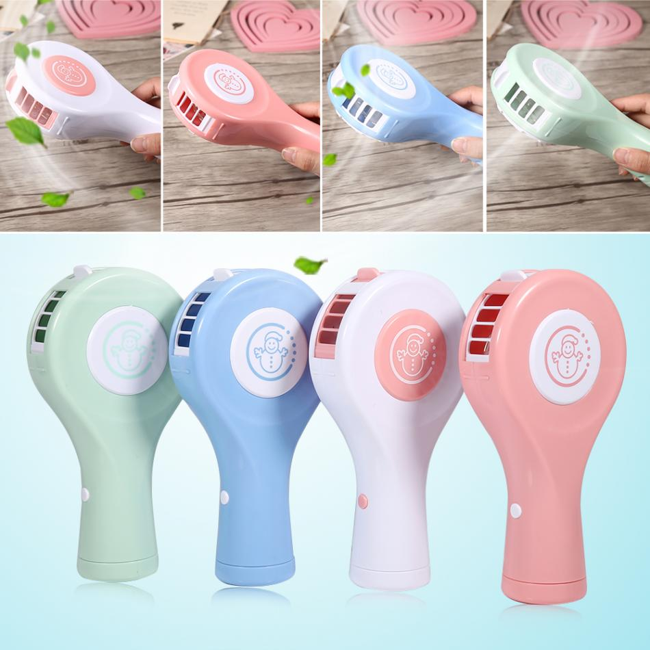 Portable Mini USB Rechargeable Air Conditioner Handheld Fan Cooler Bladeless No Leaf Practical for Office Home Use Air Quanity portable handheld mini usb cooling fan bladeless household no leaf air conditioner fans electric conditioning cooler office home