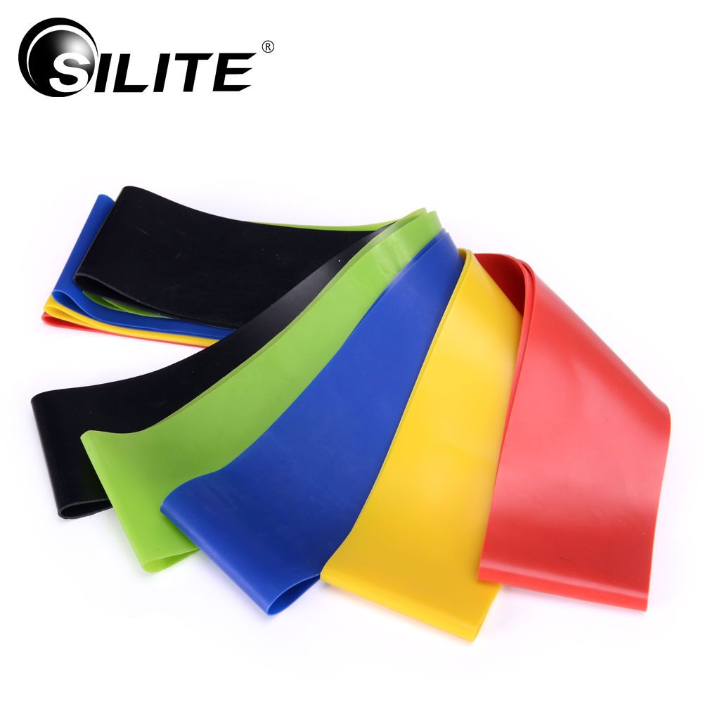 SILITE Resistance Bands 1pcs Pull Rope Body Pedal Exerciser Latex Men Workout Training Fitness Crossfit Pilates Rubber Loop Legs