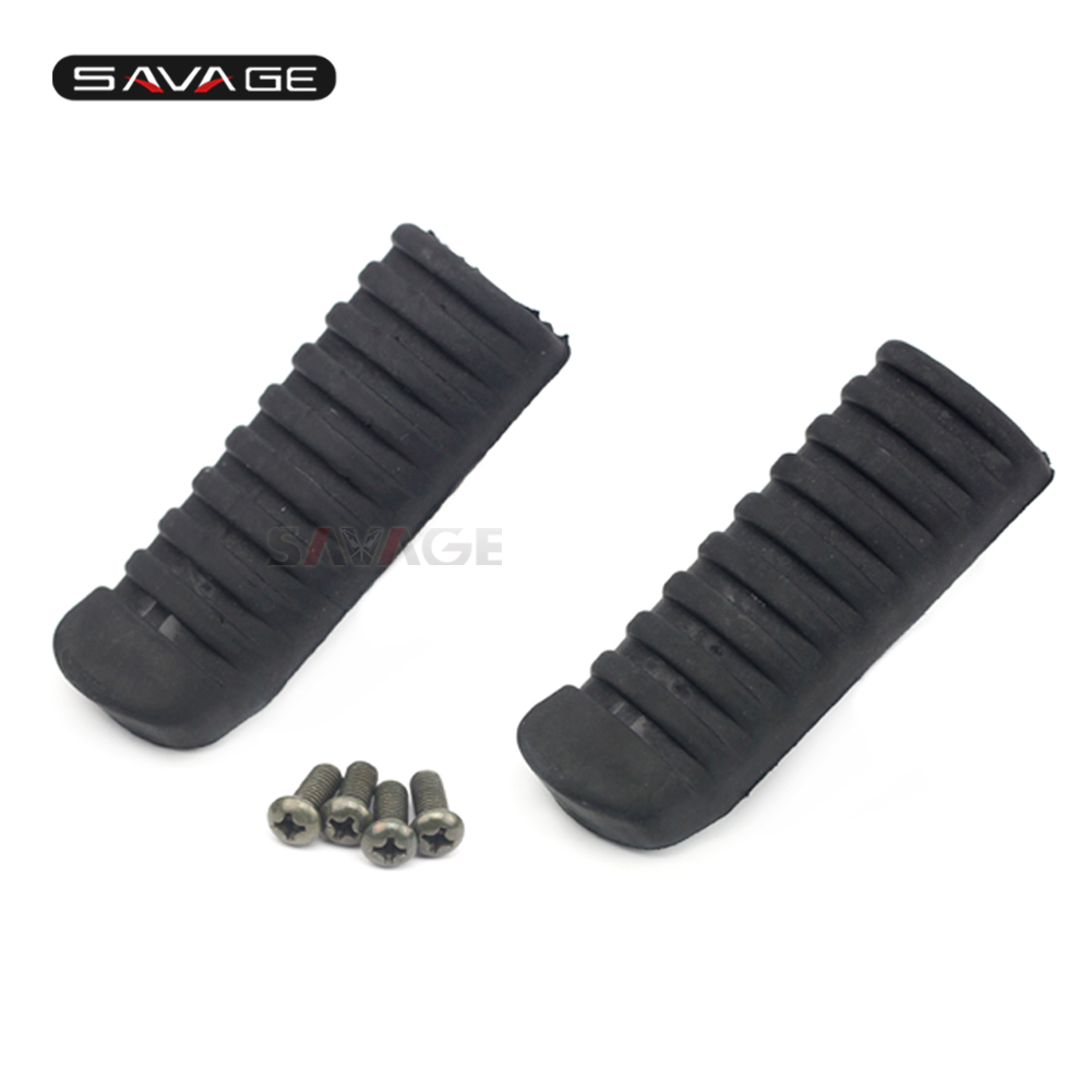 Front Foot Peg Footrest Rubber Cover For KAWASAKI KLE 650/1000 VERSYS Z750 Z750S Z1000 Z1000SX ZR7 ZZR600 Motorcycle Accessories