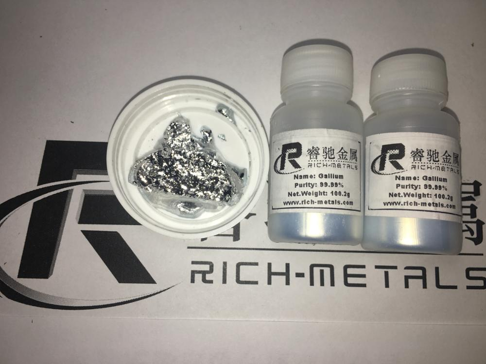 Gallium metal 99.99% pure, 200 grams net, by Changsha Rich Nonferrous Metals Co.,LtdGallium metal 99.99% pure, 200 grams net, by Changsha Rich Nonferrous Metals Co.,Ltd