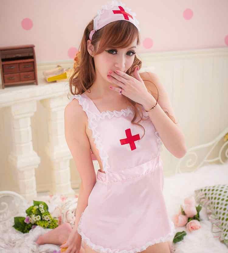 JCAAAP 1 ชุดผู้หญิงสีชมพูสีขาว COSPLAY ชุด costumes Temptation TO พยาบาลชุดชั้นในเซ็กซี่ผลิตภัณฑ์ของเล่นเซ็กซี่ชุดชั้นใน
