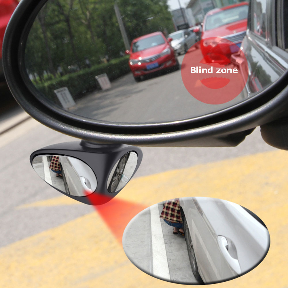 HTB1Z344XyzxK1Rjy1zkq6yHrVXaQ 1 Piece 360 Degree Rotatable 2 Side Car Blind Spot Convex Mirror Automibile Exterior Rear View Parking Mirror Safety Accessories