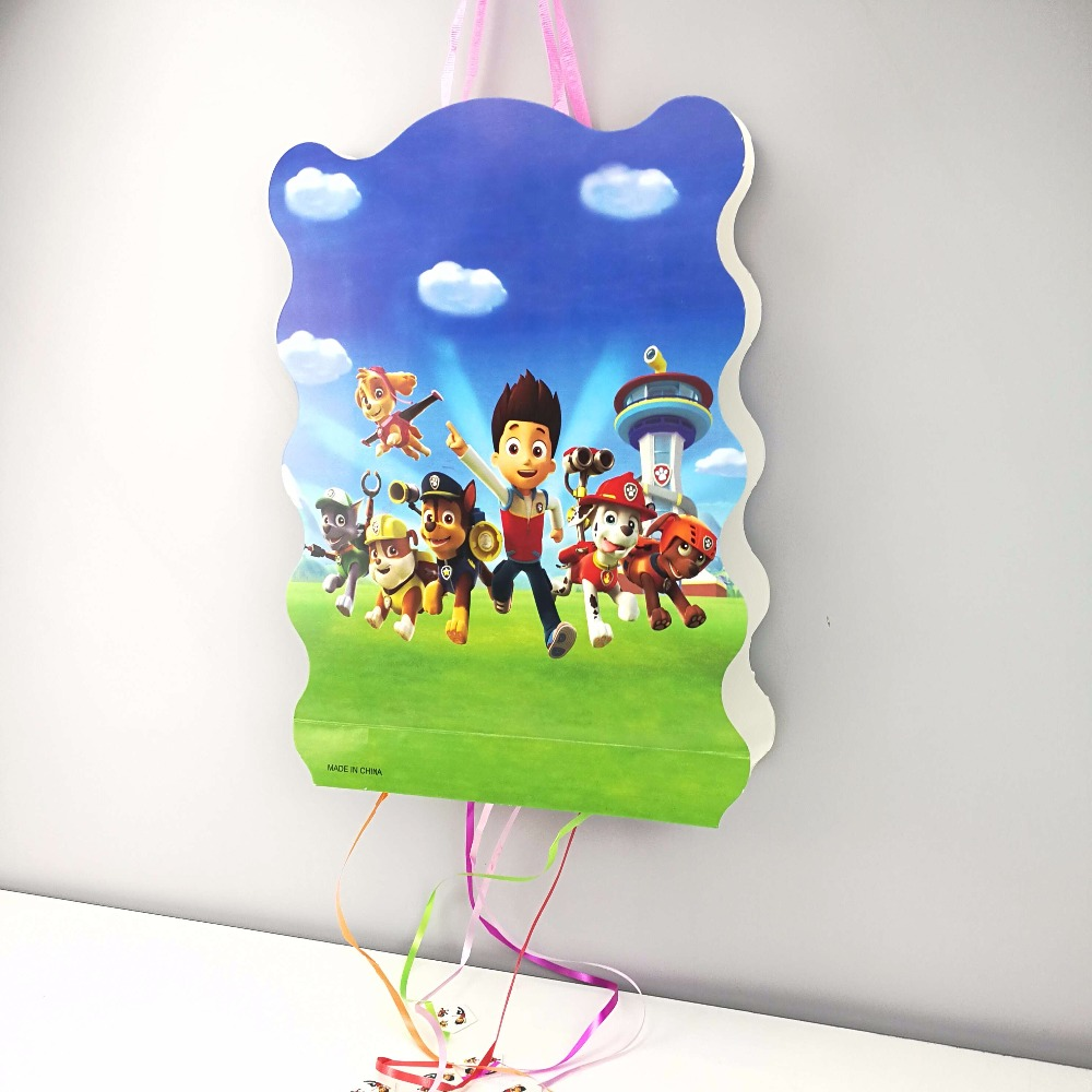 1pc 40*30cm Puppy Dog paper folding Pinata Cartoon 6 people play game Pinata Birthday Party Supplies Party Favors