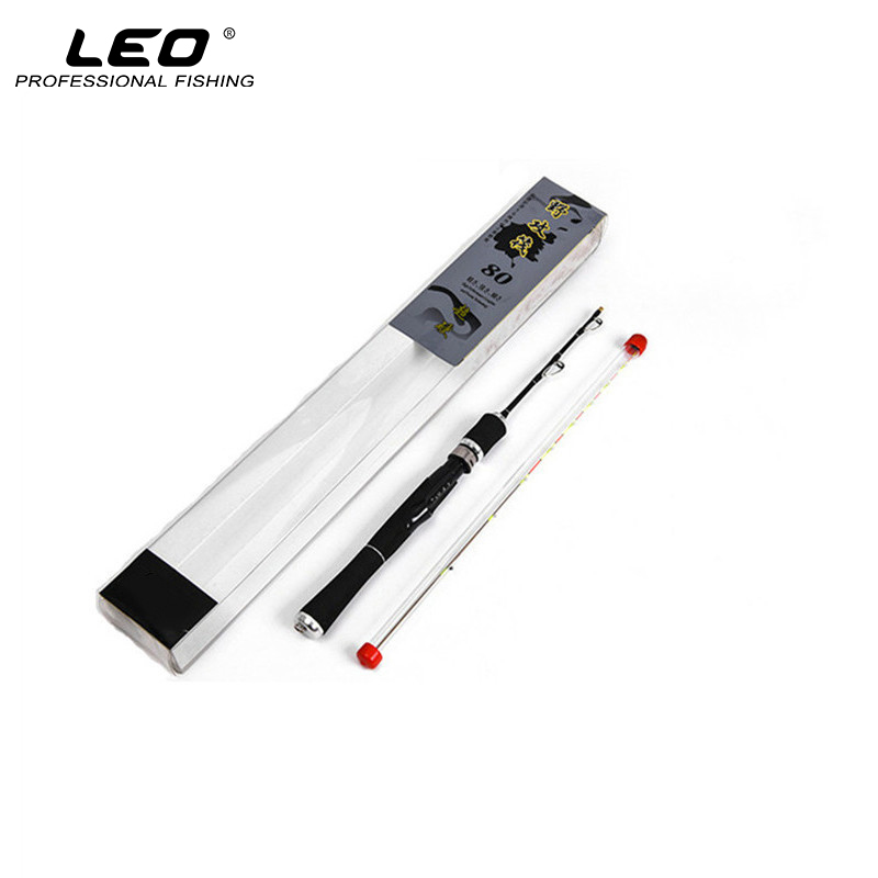 LEO 80CM Unbreakable Titanium Tip Fishing Rod Carbon Fiber Lure Fishing Pole for Raft Boat Fishing Super Soft Anti-corrosion Tip