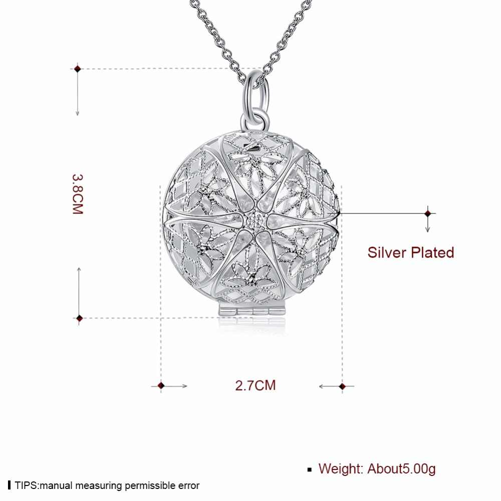 Vintage European Style Photo Lockets Silver Color Necklace For Women/Men Fashion Jewelry Statement Pendents Valentines Gift