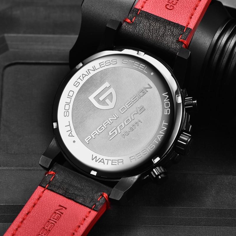 Relogio Masculino PAGANI DESIGN hommes montres haut de gamme de luxe étanche militaire chronographe Quartz montre bracelet horloge noir homme - 5