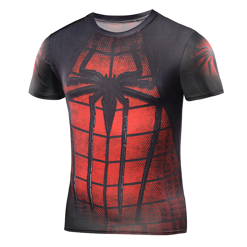 2016 Compression Shirt 3D Punisher Skull Captain America Sups