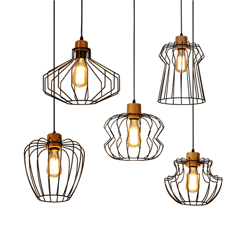 Scandinavian creative PENDANT LIGHT personality wind complex retro coffee net coffee shop restaurant bar iron wood mesh LU728298 bestdvr 805 light net в москве
