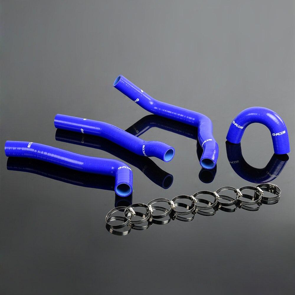 Silikonen Kühler Heizschlauch Fit Für MITSUBISHI EVO/EVOLUTION 10/X 4B11 MK10 Blau