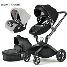 Baby Trolley Can Sit High-profile Baby Folding Light Two-way Shock Children Trolley Baby Stroller 2in1 3in1 Baby Car Seat
