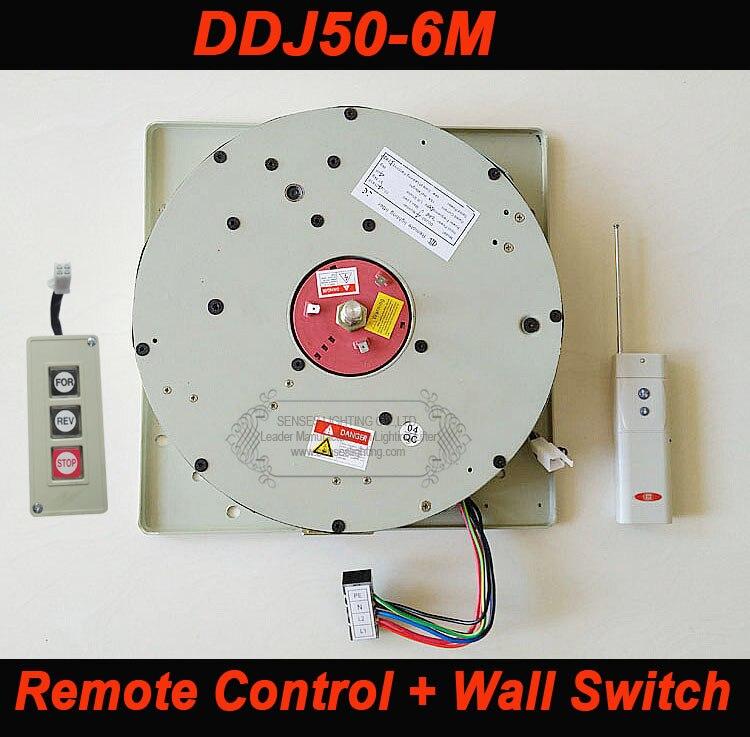 50KG 6M Wall Switch+Remote Control Winch for Chandelier Lighting Lifter Light Lifting System Chandelier Hoist 110V-120V,220-240V