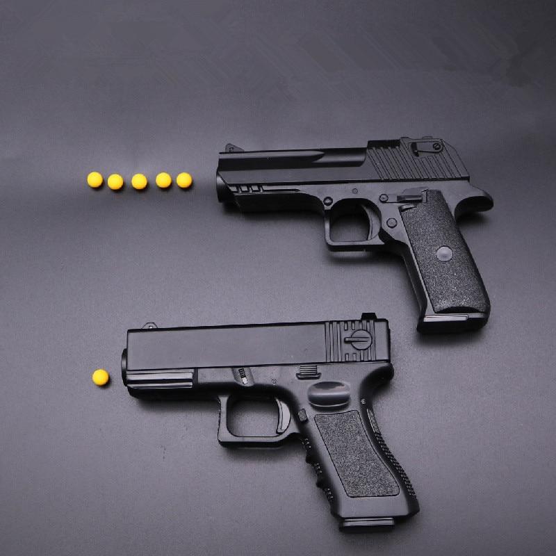 Manual Mini Pistol Metal Plastic Toy Guns Soft Bullet Shot Gun Boy Gift Alloy CS Game Ou ...