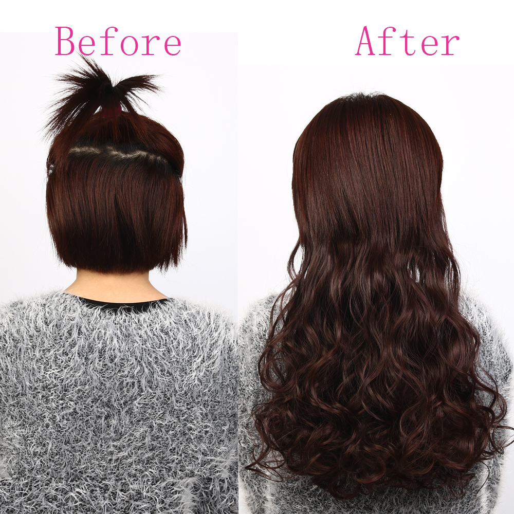 Suri Hair 24 inches 5Clips i Hair Extensions Bouncy Curly Real - Syntetiskt hår - Foto 6