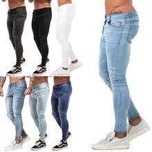 aa3fecf62c4 Для мужчин s обтягивающие джинсы 2019 супер обтягивающие мужские джинсы не  рваные стрейч джинсовые штаны эластичный