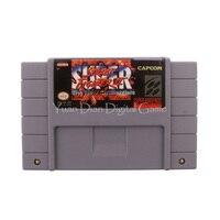 Nintendo sfc/snes cartucho de jogo de vídeo console cartão super street fighter ii os novos desafios eua versão do idioma inglês