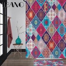 IBANO Vintage Mandala Shower Curtain Waterproof Polyester Fabric 180x180cm Bath Curtain 40x60cm Mat For The Bathroom Curtain.