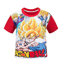 Red Dragon Ball Kids Boys cotton short-sleeved T-shirt Children's red sleeve cartoonT Shirt