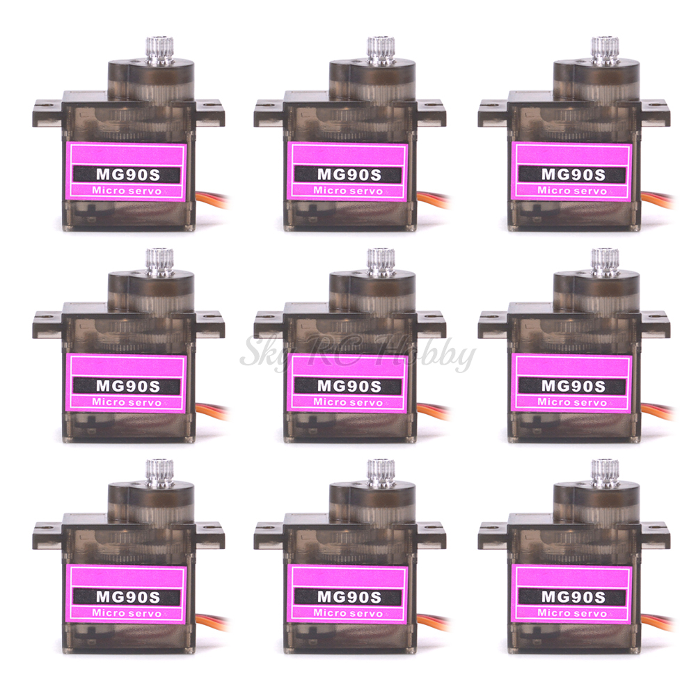 NEW MG90S 9g Metal Gear Mini Rc Servo Upgraded SG90 Digital Micro Servos For Smart Vehicle Helicopter Boat Car