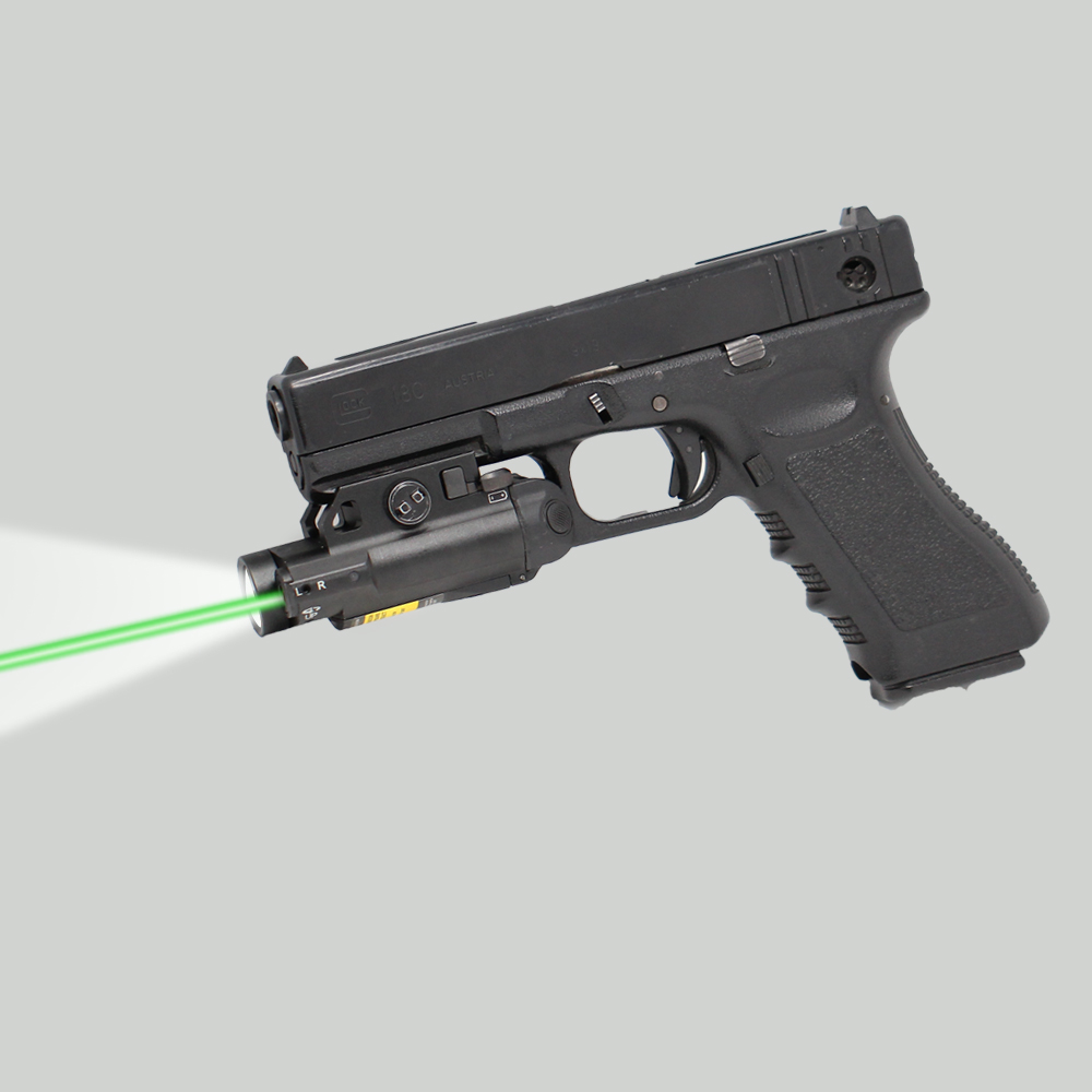 Compact New Design Collimator Sight Green Laser and Tactical Light Outdoor Hunting Device compact