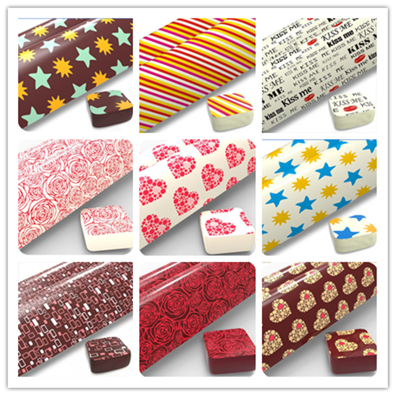 10 Sheets Transfer Paper For Chocolate For Baking Decor Mixed