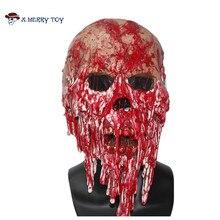 X-веселые игрушки латекс маска ужаса кричать труп накладных Маска Страшно Кровавый костюм Косплэй Бесплатная доставка