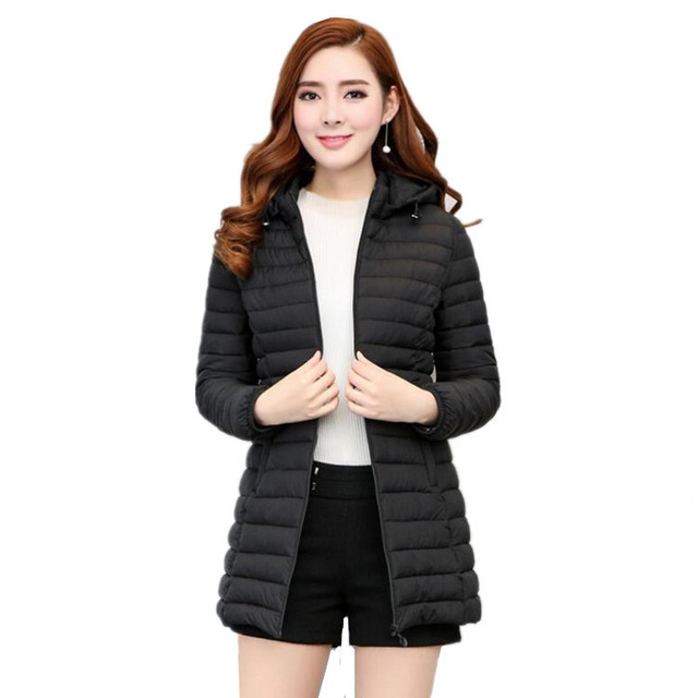 Winter New Women Cotton Coat Fashion Female Long Sleeve Warm Mother Jacket  High Quality Lady Outwear With Hat Plus Size L-8xl a99d0b7dc
