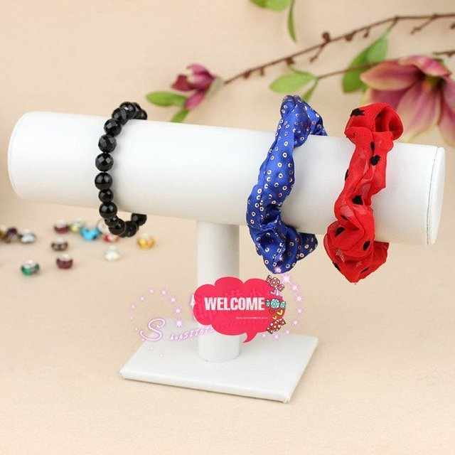 White Leather Single-frame bracelet bracelet jewelry holder jewelry holder wholesale flower head frame Factory Direct Wholesale