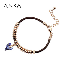 ANKA Heart Charm Crystal Rope Leather Chain Bracelet Jewelry Bracelets For  Women Crystals from Swarovski Crystals e9abe35f41b3