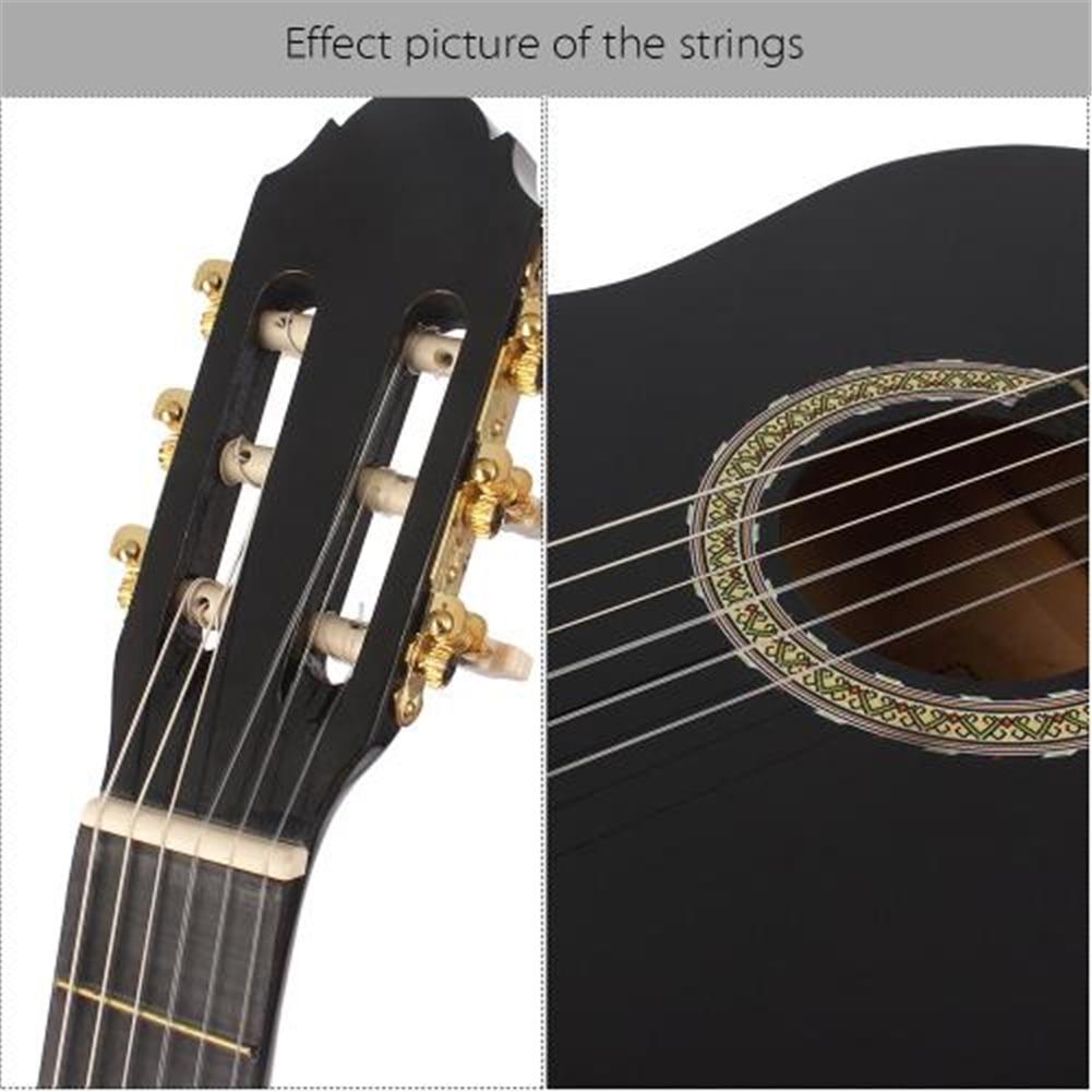 어쿠스틱 기타 문자열 1 ~ 6th 6pcs 문자열 실버 도금 구리 합금 상처 클래식 기타에 적합