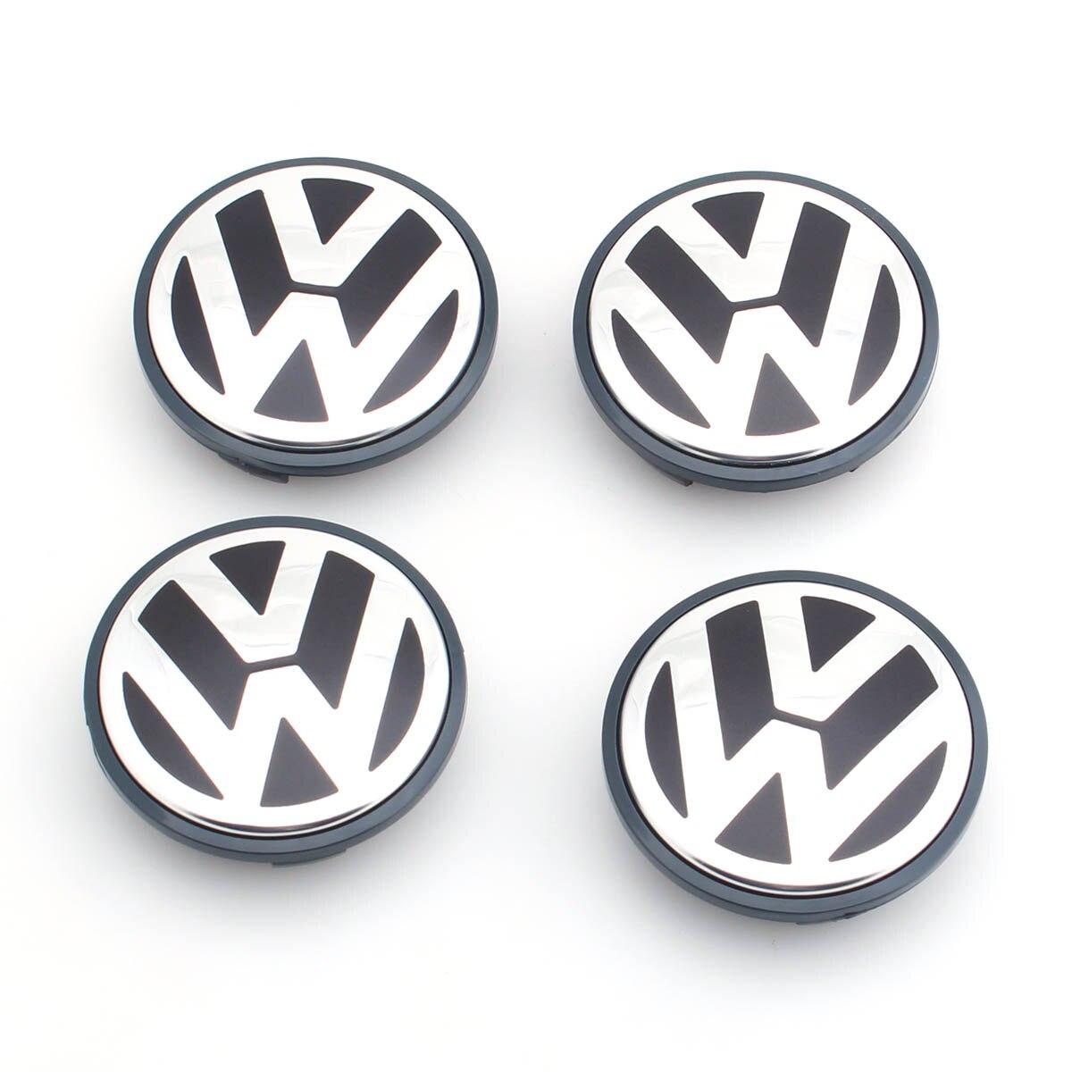4 pcs/ensemble OEM 65mm Center De Roue Cap Logo Hub Couverture Badge Emblème pour VW Jetta MK5 Golf Passat