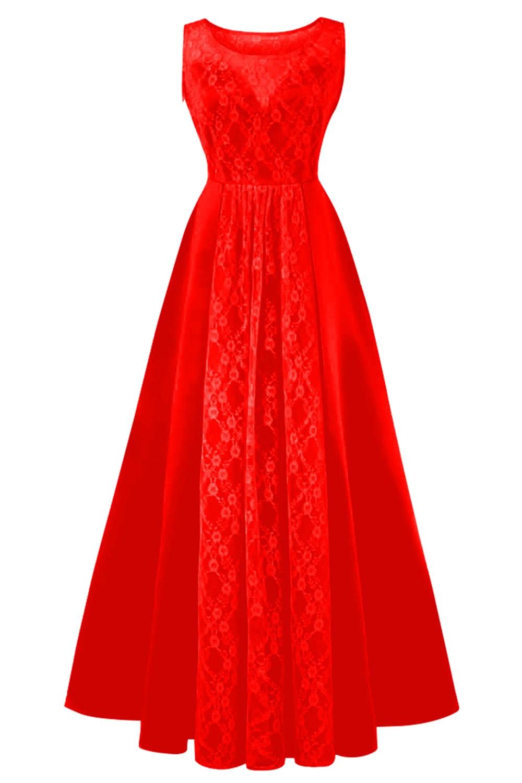 HTB1Z37ExxWYBuNjy1zkq6xGGpXaJPink Red Or Black Lace Evening Dress